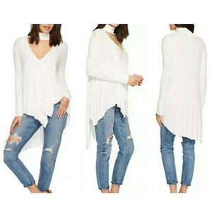 Free People Ribbed Uptown Ivory White top